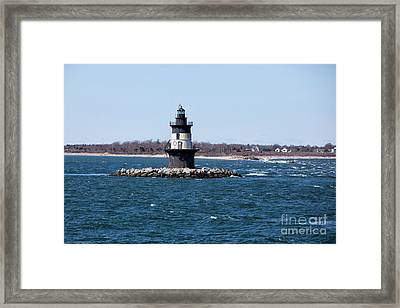 Orient Point Lighthouse Framed Print by Stephen McCabe