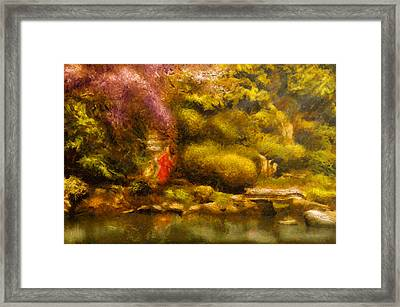 Orient - The Japanese Garden Framed Print by Mike Savad