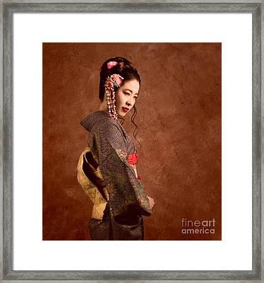 Oriental Beauty Framed Print by Julian Cook