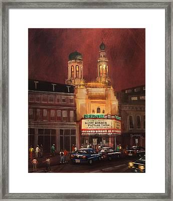 Oriental Theater Milwaukee Framed Print by Tom Shropshire