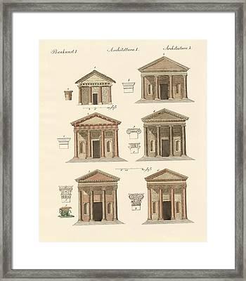 Origin And Development Of Architecture Framed Print by Splendid Art Prints
