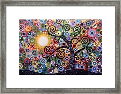 Original Abstract Tree Landscape Painting ... Memory Of Magic Framed Print by Amy Giacomelli