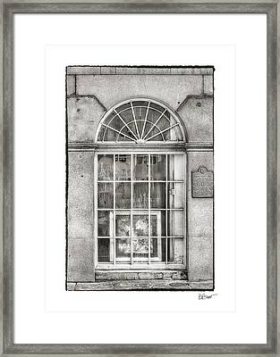 Original Art For Sale In Black And White Framed Print by Brenda Bryant