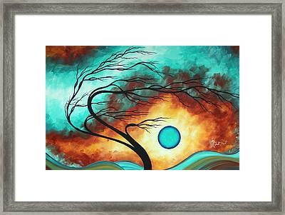 Original Bold Colorful Abstract Landscape Painting Family Joy I By Madart Framed Print by Megan Duncanson