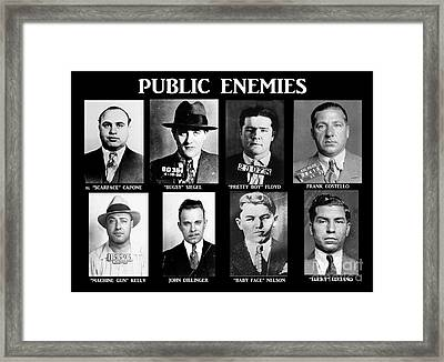 Original Gangsters - Public Enemies Framed Print by Paul Ward