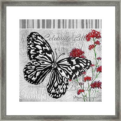 Original Inspirational Uplifting Butterfly Painting Celebrate Life Framed Print by Megan Duncanson