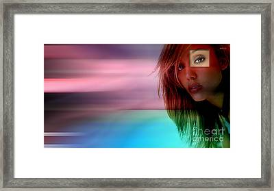 Original Jessica Alba Painting Framed Print by Marvin Blaine