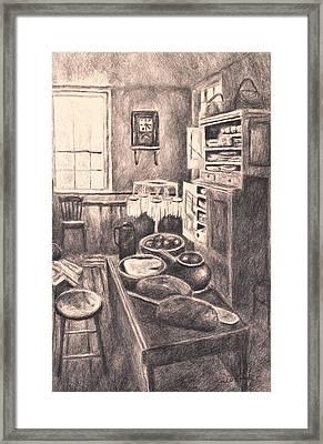 Original Old Fashioned Kitchen Framed Print by Kendall Kessler