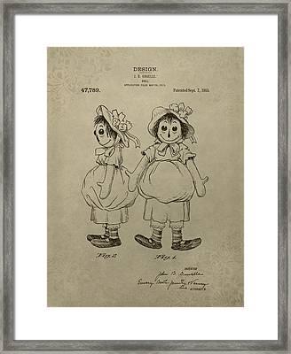 Original Raggedy Ann Doll Framed Print by Dan Sproul