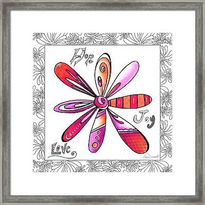 Original Uplifting Inspirational Flower Quote Typography Art By Megan Duncanson Framed Print by Megan Duncanson