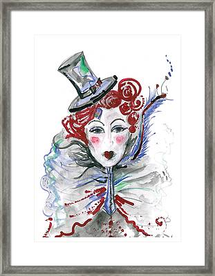 Original Watercolor Fashion Illustration Framed Print by Marian Voicu