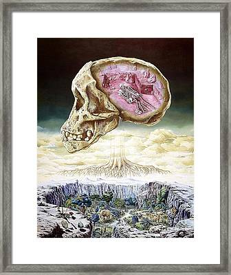 Origins Of Life Framed Print by Publiphoto