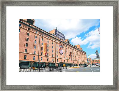 Oriole Park And Camden Yards Framed Print by Bill Cannon