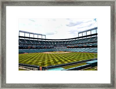 Oriole Park At Camden Yards Framed Print by Bill Cannon