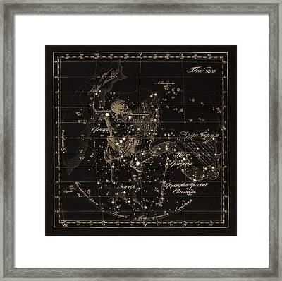 Orion Constellations, 1829 Framed Print by Science Photo Library