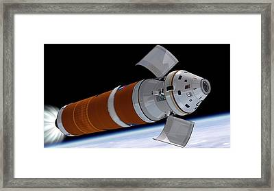 Orion Deployment In Orbit Framed Print by Nasa