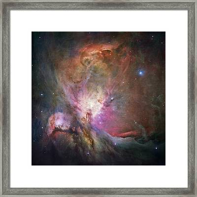 Space Hollywood 2 - Orion Nebula Framed Print by Marianna Mills