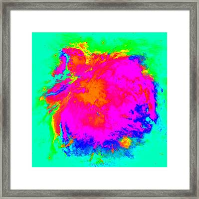 Orion Nebula Altered II Framed Print by L Brown