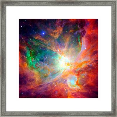 Orion Nebula Close Up Framed Print by L Brown