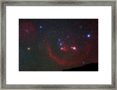 Orion Nebulae Above The Canary Islands Framed Print by Babak Tafreshi
