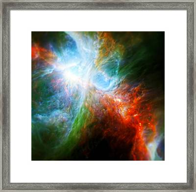 Orion's Rainbow 5 Framed Print by The  Vault - Jennifer Rondinelli Reilly