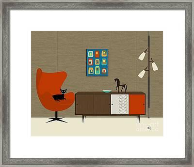 Orla Kiely Cabinet Framed Print by Donna Mibus