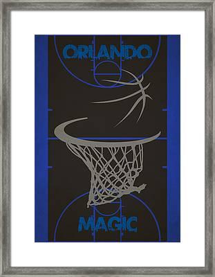 Orlando Magic Court Framed Print by Joe Hamilton