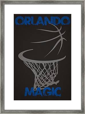 Orlando Magic Hoop Framed Print by Joe Hamilton