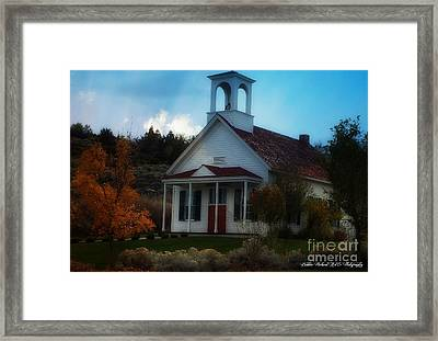 Huffaker School House Of Nevada Framed Print by Bobbee Rickard