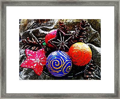 Ornaments 7 Framed Print by Sarah Loft