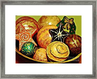 Ornaments Framed Print by Sarah Loft