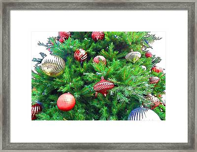Ornaments So Bright Framed Print by Audreen Gieger-Hawkins