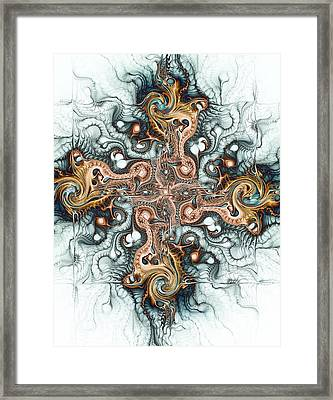 Ornate Cross Framed Print by Anastasiya Malakhova