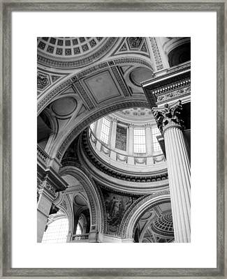 Ornate Curves Framed Print by Jenny Hudson
