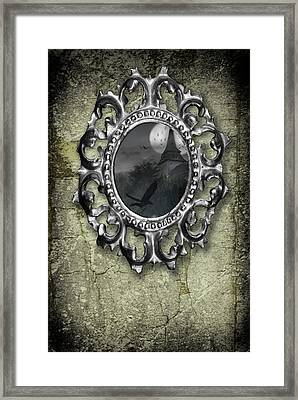 Ornate Metal Mirror Reflecting Church Framed Print by Amanda And Christopher Elwell