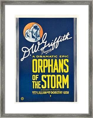 Orphans Of The Storm, From Left Dorothy Framed Print by Everett