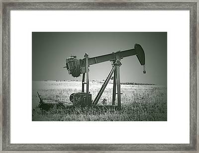 Orphans Of The Texas Oil Fields Framed Print by Christine Till
