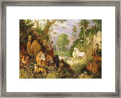 Orpheus Charming The Animals, C.1618 Framed Print by Roelandt Jacobsz. Savery