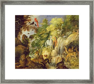 Orpheus With Birds And Beasts, 1622 Framed Print by Roelandt Jacobsz. Savery