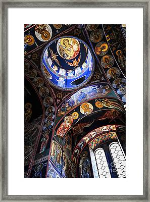 Orthodox Church Interior Framed Print by Elena Elisseeva