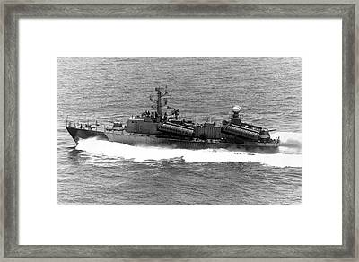 Osa-class Missile Boat Framed Print by Us Air Force