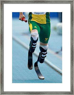 Oscar Pistorius, South African Athlete Framed Print by Science Photo Library