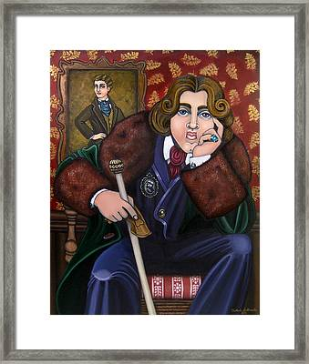 Oscar Wilde And The Picture Of Dorian Gray Framed Print by Victoria De Almeida