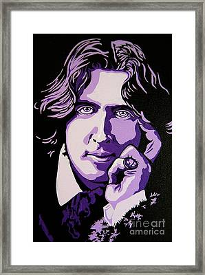 Oscar Wilde Framed Print by Rebecca Mott