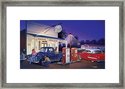 Oscar's General Store Framed Print by Bruce Kaiser