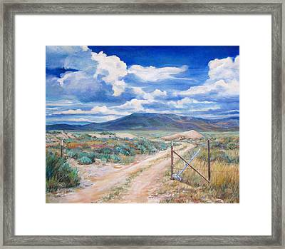 Osceola Nevada Ghost Town Framed Print by Donna Tucker