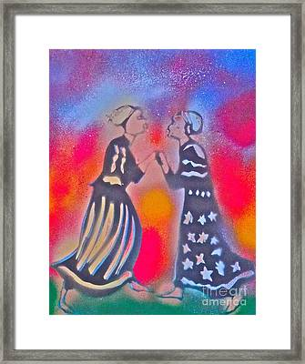 Oshun And Yemaya Framed Print by Tony B Conscious