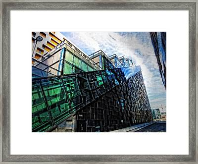 Oslo Architecture No. 4 Framed Print by Mary Machare