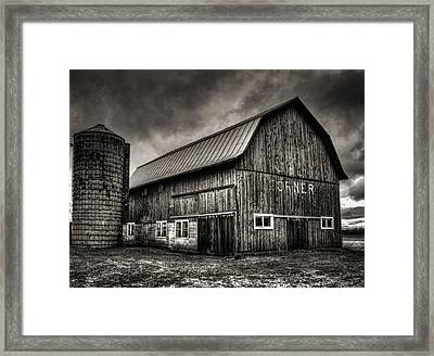 Oslo Corner In Black And White Framed Print by Thomas Young