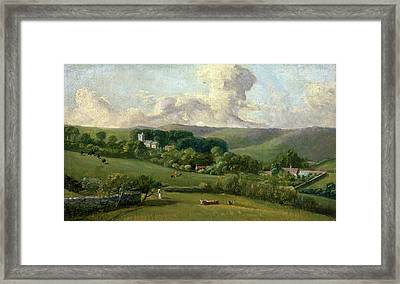 Osmington A View To The Village, John Fisher Framed Print by Litz Collection